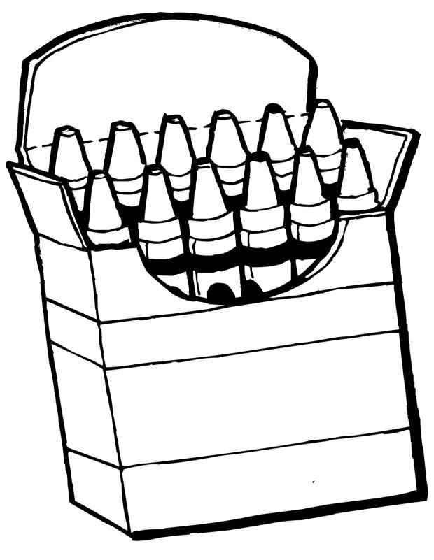 Crayons De Couleur Est Un Coloriage Décole à Imprimer