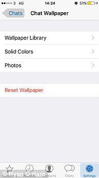 WhatsApp users can now customise the app even more in the new update through settings (pictured)
