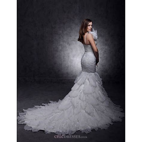 Fit & Flare Plus Sizes Wedding Dress   Ivory Court Train