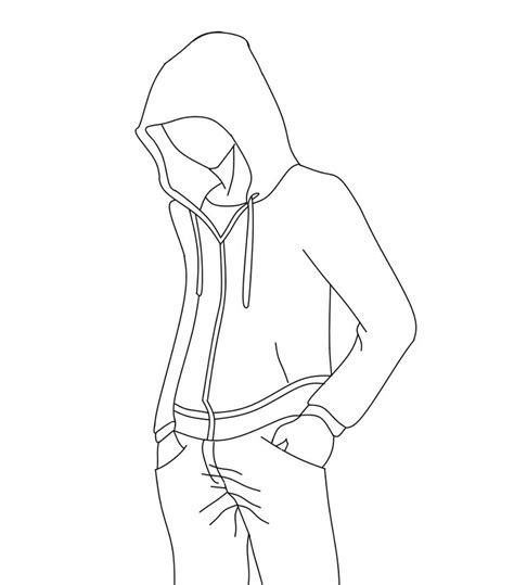 anime guy  hoodie coloring pages