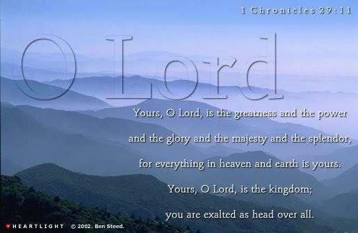 Inspirational illustration of 1 Chronicles 29:11