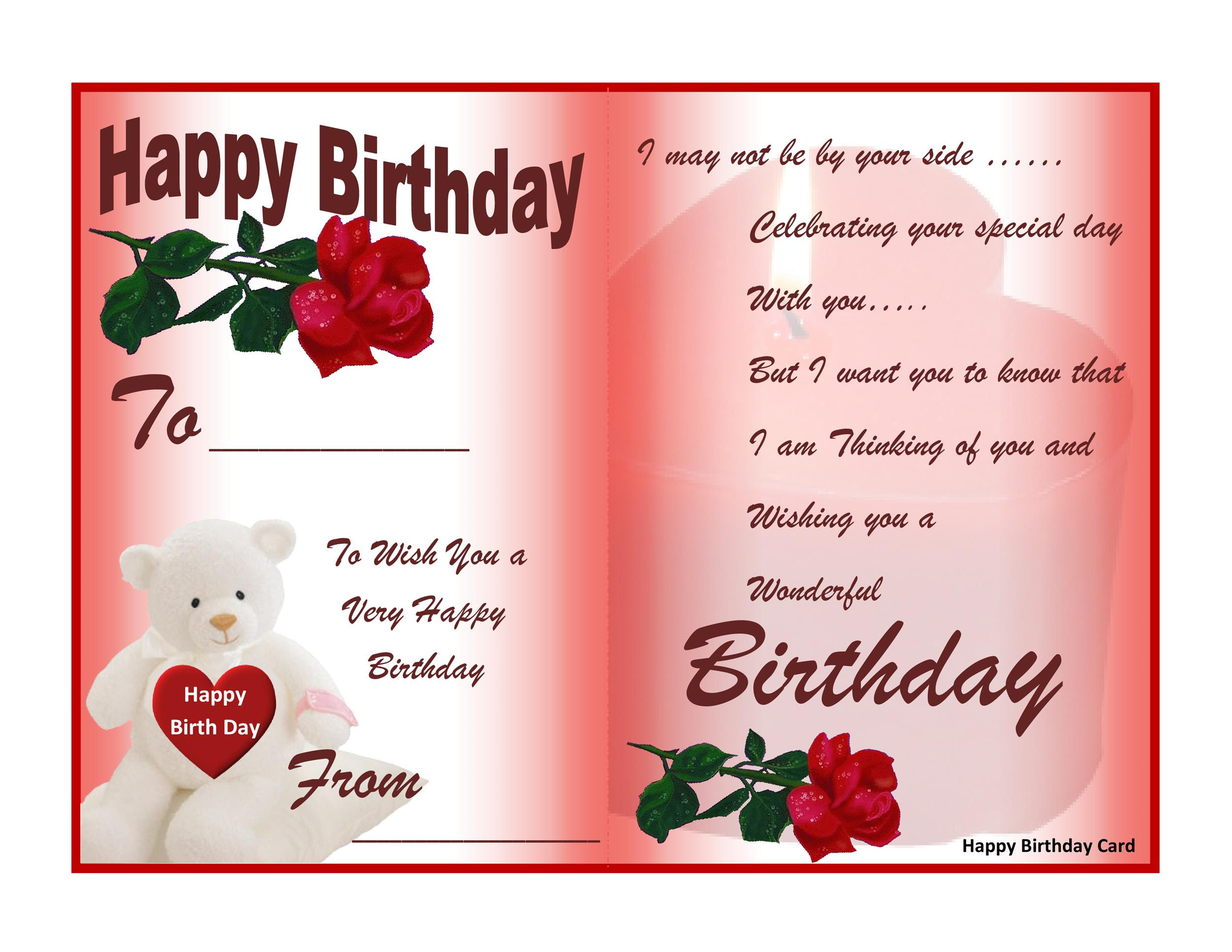 Birthday Cards Printable Free Card Design Template