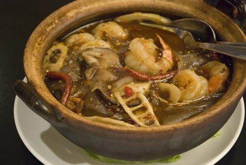 chilli and prawn hot pot