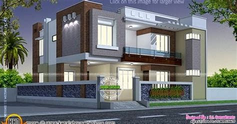 modern style indian home kerala home design  floor plans