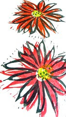 flower stamps (3 part)