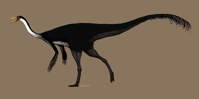 gallimimus digital painting