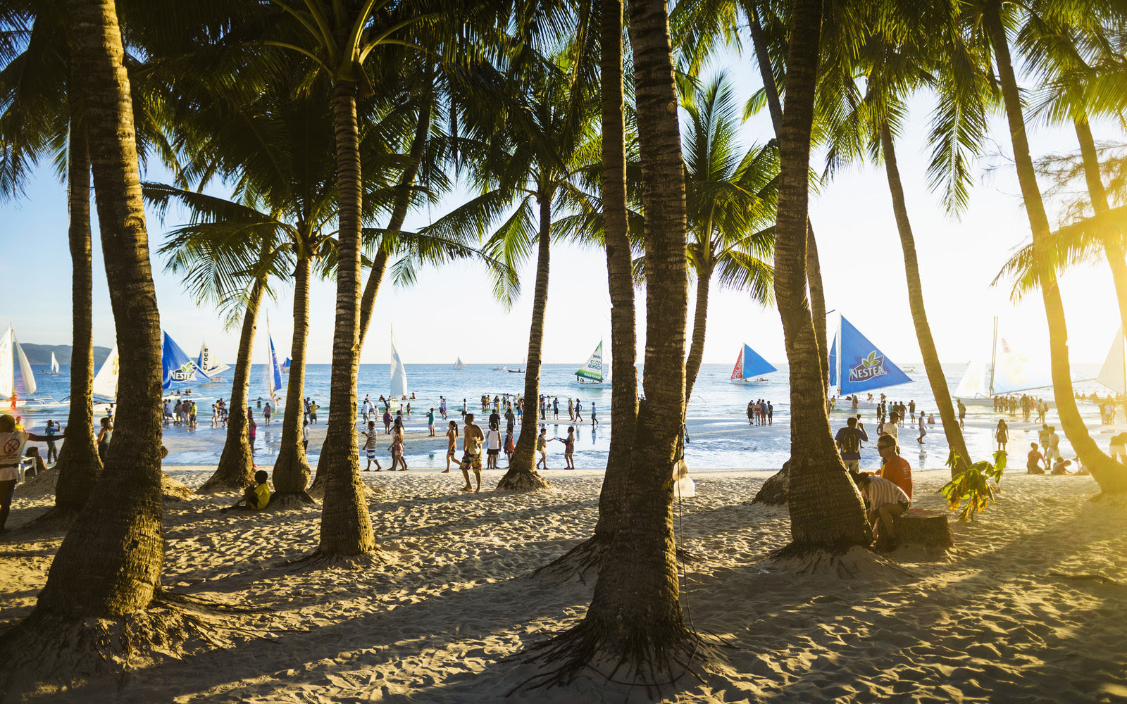 White Beach is often voted the best beach in Asia.