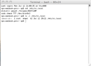 ls -l command to check the file permissions