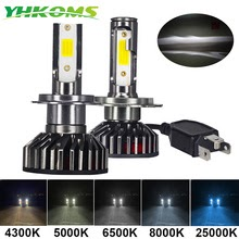 YHKOMS Mini Size Car Headlight H4 H7  3000K  LED Bulb Auto Fog Light