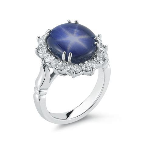 10.60 Carat Star Sapphire & Diamond Ring   Marshall Pierce