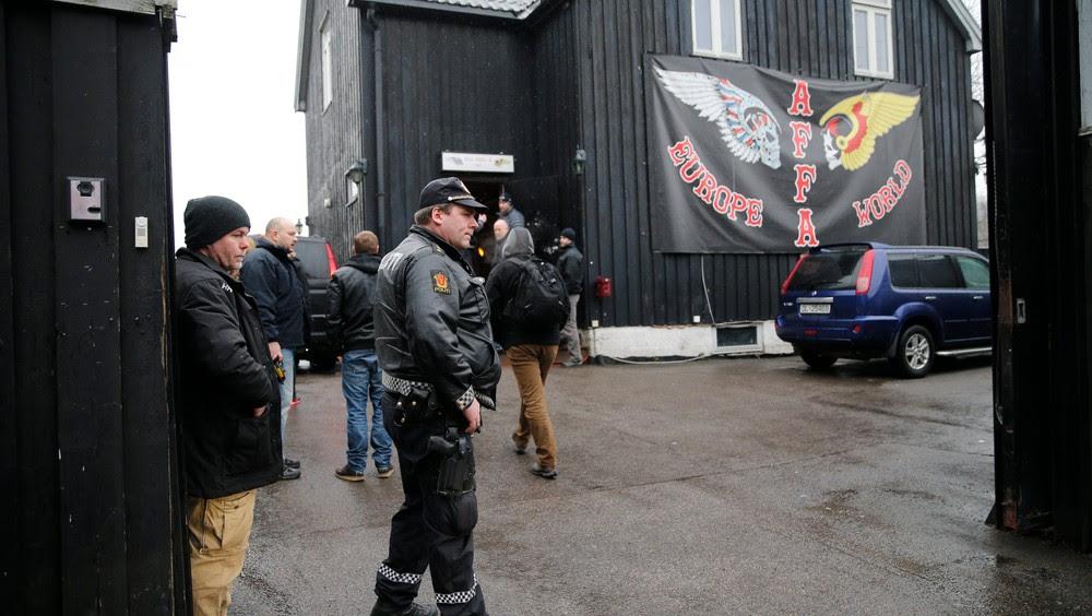 Razzia Hells Angels Oslo - AKSJON: Her er huset det står om. Bildet er fra en aksjon i februar. - Foto: Poppe, Cornelius / NTB scanpix