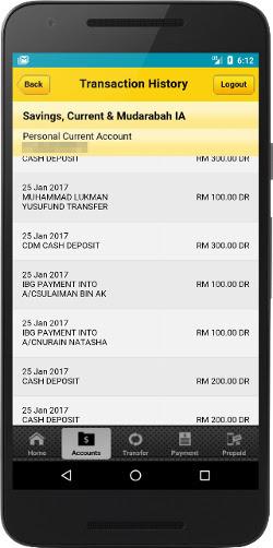 screen capture duit beribu-ribu akaun bank jutawan app