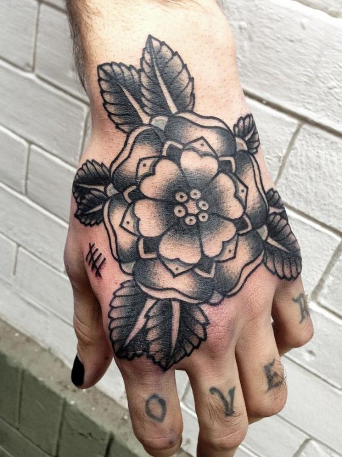 Black Flower American Traditional Tattoo Tattoomagz