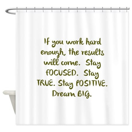 Motivational Quotes Shower Curtains  Motivational Quotes