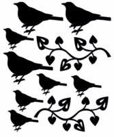 Birds in garden 100 x 120 sold in 3\'s