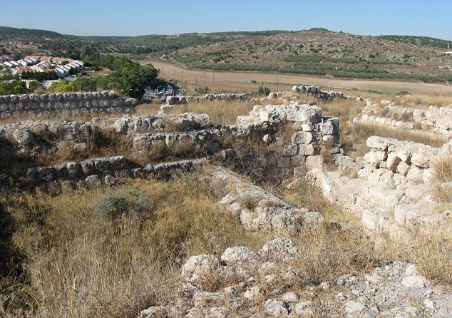Find: The ruins of the ancient biblical city in the tell of Beit Shemesh, located near the modern city