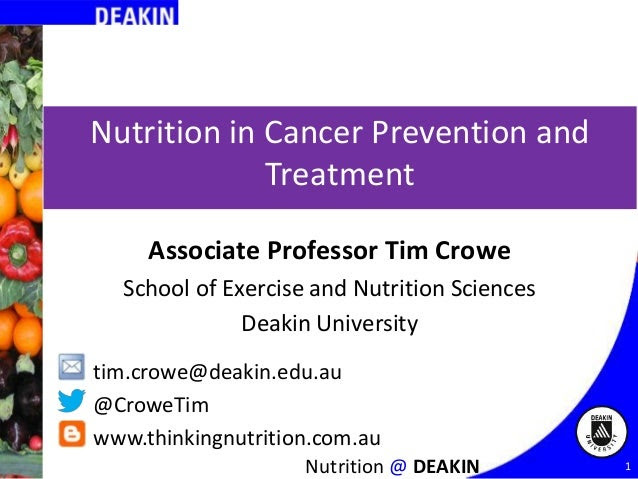 Nutrition for Cancer Prevention and Treatment