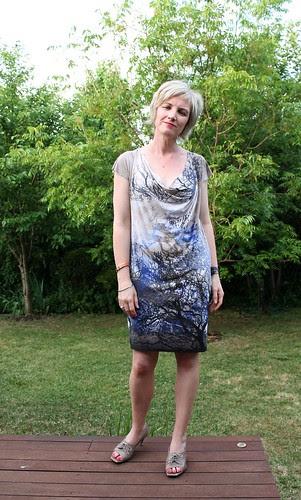 mini drape dress