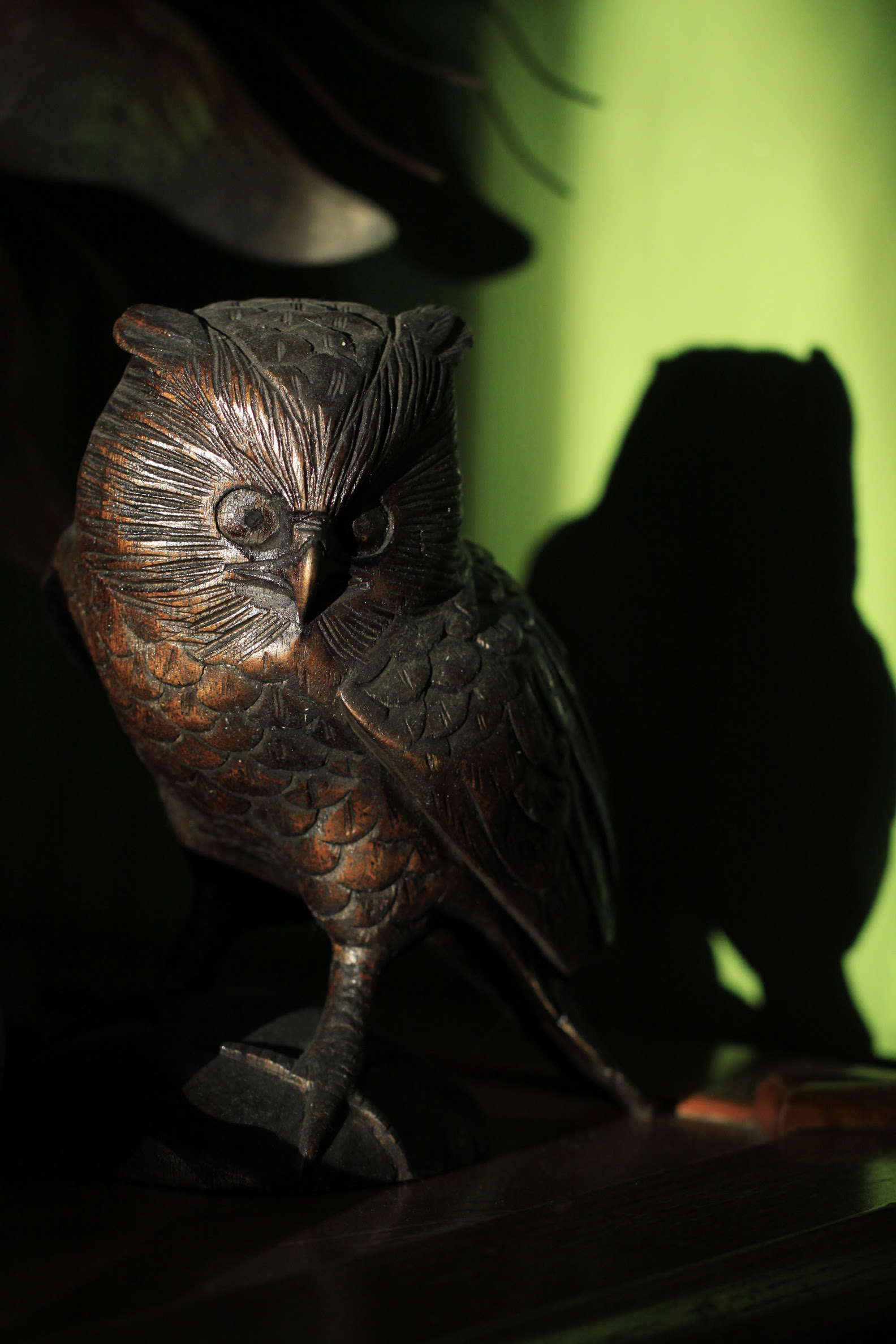 owl ornament in sun
