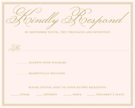 Wedding RSVP Wording Ideas