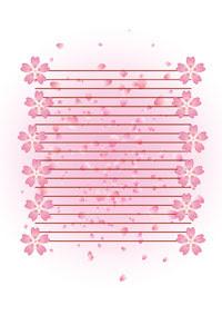春用 便箋封筒桜