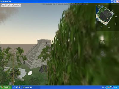 Imágenes de Chichen Itza con playa en la visita virtual en Second Life recreando una visita virtual en Mexico