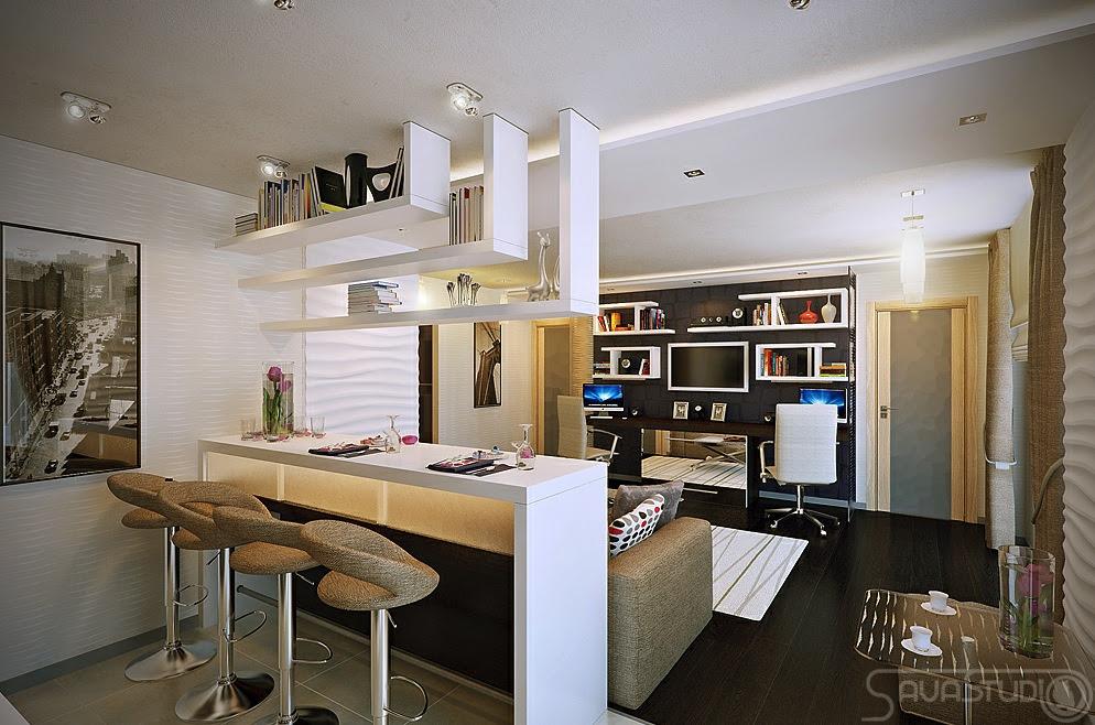 White open plan kitchen lounge | Interior Design Ideas.