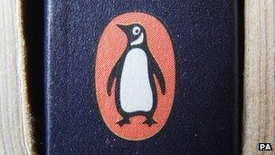 Penguin logo on a book