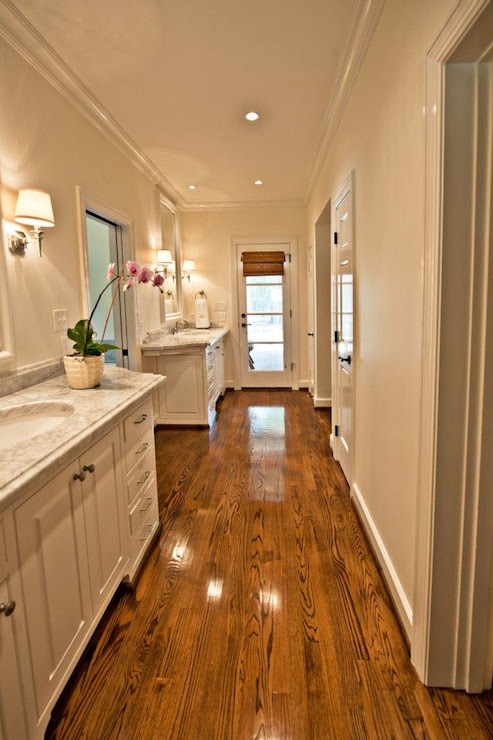 Long Master Bathroom - Transitional - bathroom - The Wills ...