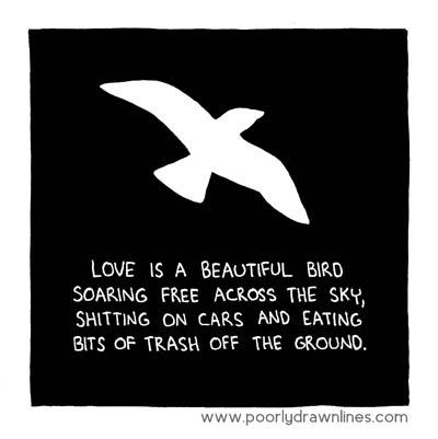 Poorly Drawn Lines Love Bird