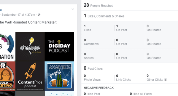 facebook likes and reactions for post