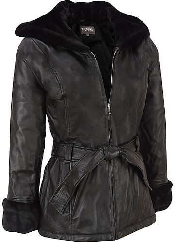 Wilsons Leather Hooded Leather Jacket with Fur Trim