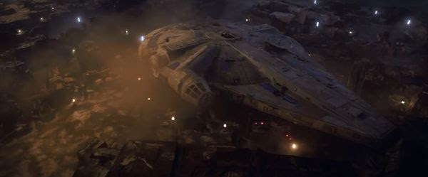 The Millennium Falcon in her early incarnation in SOLO: A STAR WARS STORY.