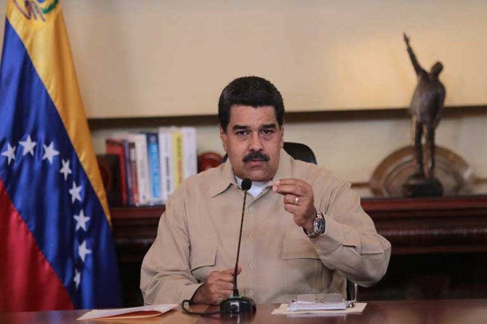 Presidente venezuelano, Nicolas Maduro, fez pronunciamento em rede nacional na terça-feira (18)  (Foto: Presidência da Venezuela / AFP )