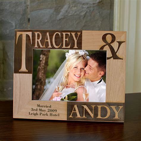 Bride And Groom Personalised Photo Frame   Picture Frame   7x5