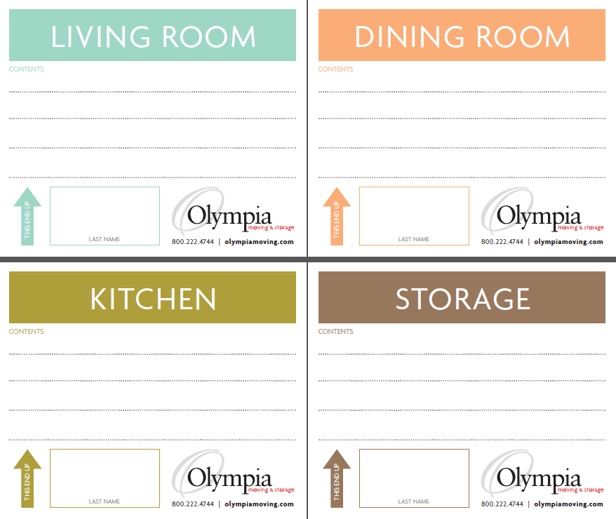 Printable Moving Box Labels 1