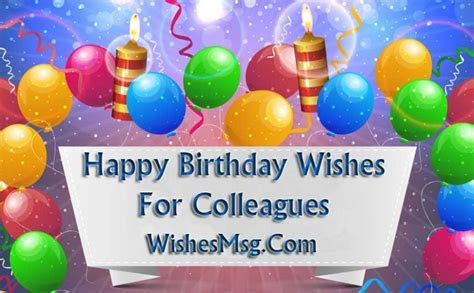 Happy Birthday Wishes For Colleagues & Coworkers   WishesMsg