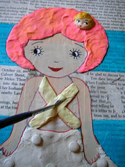 Mixed Media Clay Painting!5th Step!