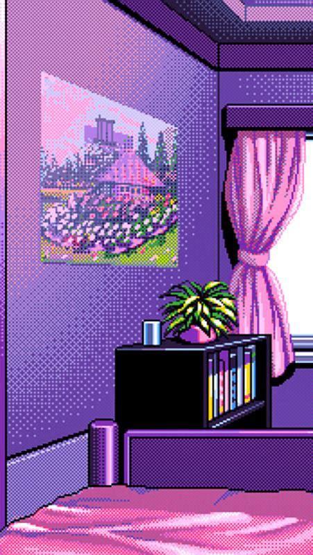 vaporwave pixel aesthetics  wallpaper  android