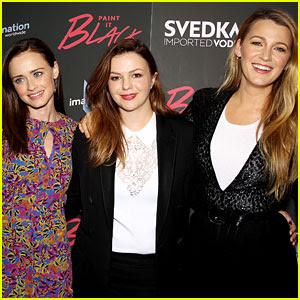 Blake Lively, Alexis Bledel, & Amber Tamblyn Have Mini 'Sisterhood' Reunion at 'Paint It Black' Premiere!