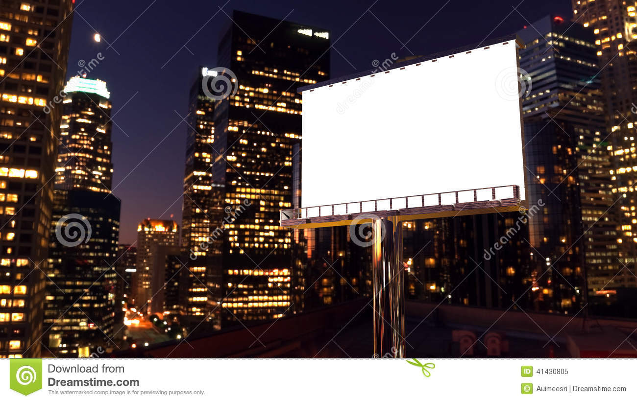 Blank Billboard City Street Night Stock Photos, Images, & Pictures ...