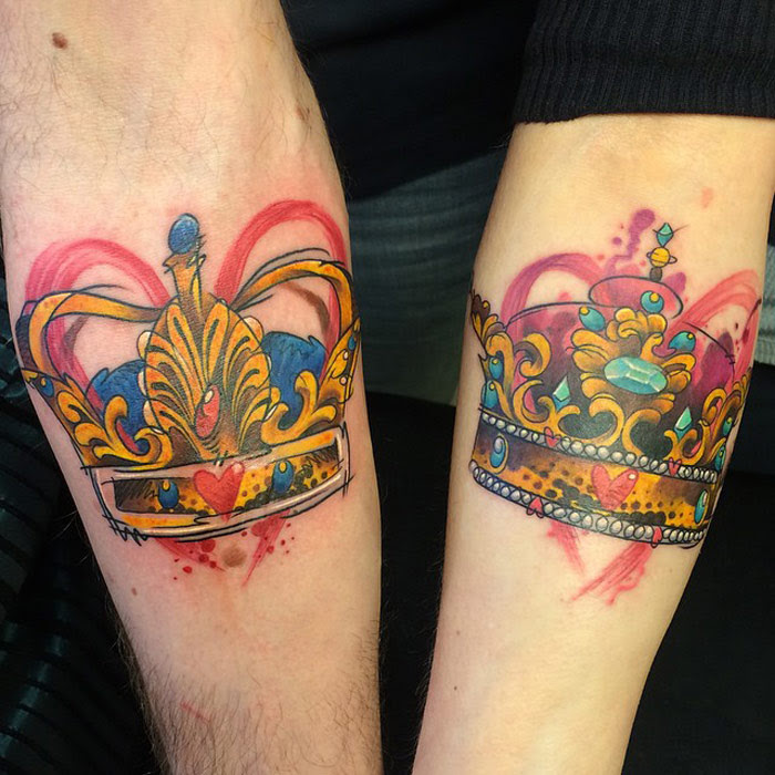 King Queen Crowns Tattoo Best Tattoo Design Ideas
