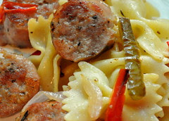 sausage and farfalle 03