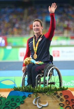 A americana Tatyana McFadden, do atletismo paralímpico, levou ouro no Rio de Janeiro (Foto: Getty Images)