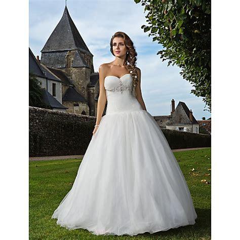 Fit & Flare Plus Sizes Wedding Dress   Ivory Floor length