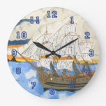 Pirate Ship at Sea Wall Clocks