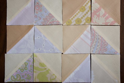 Fat Geese quilt HSTs