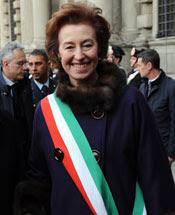 Il sindaco di Milano Letizia Moratti