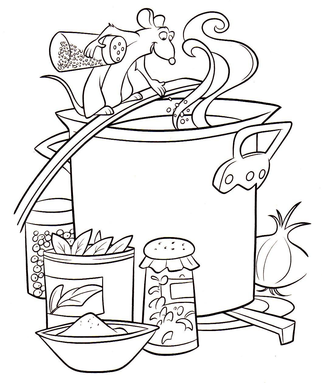 Frais Coloriage De Ratatouille A Imprimer