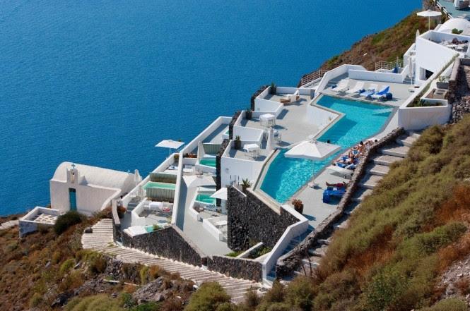 satorini grace pools and decks view